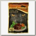 Консервы для кошек Ночной охотник кусочки в соусе с мясным ассорти (пауч)