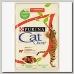 Консервыдля взрослых кошек Cat Chow Adult сговядиной и баклажанами в желе (пауч), 85 гр
