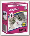 Консервы для кошек Bozita Feline Srayfish Tetra Pak Кусочки в желе Лангуст