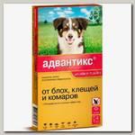 Капли для собак от 10 до 25 кг Bayer GL Адвантикс 250С 4 пипетки