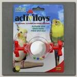 Игрушка для птиц JW, Activitoys Rattle Mirror, Вращающееся зеркальце - погремушка