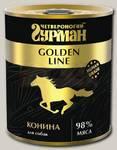 Консервы для собак Четвероногий Гурман Golden line Конина натуральная в желе