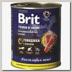 Консервы для собак Brit Premium by Nature Говядина с пшеном