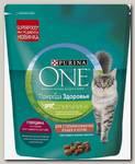 Сухой корм для стерилизованных кошек и кастрированных котов Purina One Природа Здоровья с высоким содержанием говядины