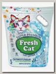 Наполнитель для кошачьих туалетов Fresh Cat Морской бриз, силикагелевый с ароматом 5 л