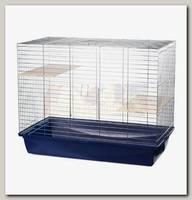 Клетка для грызунов,INTER-ZOO CHINCHILLA 100 ZINC, с 2-мя деревянными полками 101*58*80 см