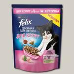 Сухой корм для котят Felix Двойная Вкуснятина с курочкой