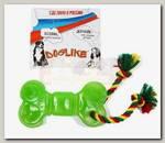 Игрушка для собак Doglike кость большая с канатом (с этикеткой)