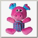 Игрушка для собак Kong Weave Knots Свинка средняя, 22х20 см