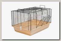 Клетка для кроликов и морских свинок Дарэлл Кролик №2, чёрная, складная, 58см*40см*36см