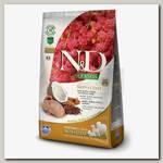 Сухой беззерновой корм для собак Farmina N&D Quinoa Adult Skin&coat здоровье кожи и шерсти Оленина с киноа