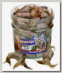 Игрушка для кошек Nobby Катушка с перьями 5 см дисплей набор-36шт