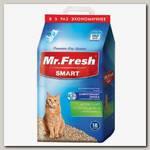 Наполнитель для короткошерстных кошек Mr.Fresh Древесный комкующийся