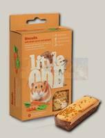 Лакомство для хомяков, крыс, мышей и песчанок Little One Бисквиты с морковью