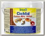 Корм для всех видов цихлид TetraCichlid Colour Mini для улучшения окраса