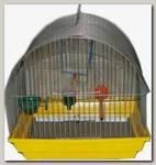 Клетка для птиц Зоомарк, малая полукруглая комплект 35*28*37 см