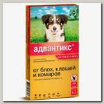 Капли для взрослых собак средних пород весом 10-25 кг Bayer Адвантикс 250С от эктопаразитов, блох, клещей и комаров, 1 пипетка
