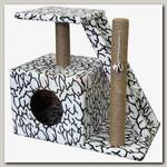 Когтеточка для кошек PerseLine Домосед (дом, лестница, площадка) джут КД-27