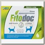Капли для мелких пород собак и кошек АВЗ FITODOC дерматологические, 4 пипетки*0,6 мл