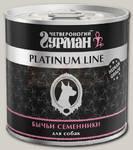 Консервы для собак Четвероногий Гурман Platinum бычьи семенники в желе