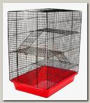 Клетка для грызунов Дарэлл ЕСО Хома №3, шаг прута 10 мм, 3 этажа, 33*24*38см