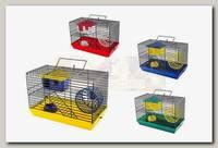 Клетка для грызунов Дарэлл ECO мини, 2-х этажная (в компл. домик, миска, колесо)