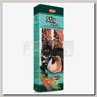 Лакомство для декоративных кроликов и морских свинок Padovan Stix flakes Coniglietti Лакомые палочки с овощами