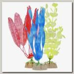 Набор растений для аквариума GloFish (S желтое, L оранжевое, L синее)