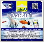 Полоски для пресной воды TetraTest 6 в 1 GH/KH/NO2/NO3/pH/Cl