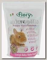 Корм для крольчат 1-10 мес Fiory Micropills Baby Rabbits