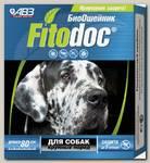 Ошейник для собак крупных пород АВЗ Фитодок репеллентный био 80 см, защита от блох до 3-х месяцев, от клещей до 5 недель