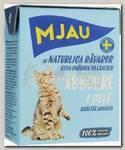 Консервы для кошек Mjau Мясные кусочки в желе с окунем