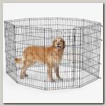 Вольер для животных MidWest Life Stages 8 панелей с дверью-MAXLock черный