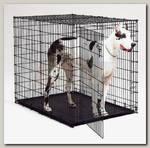 Клетка для животных MidWest Solutions 2 двери черная
