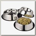 Миска для животных Ankur металлическая с резиновым основанием