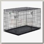 Клетка для домашних животных MidWest iCrate, черная, 2 двери