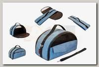 Сумка-переноска Дарэлл, Лайт-Бокс №2 раскладная с карманом 44*22*25 см (нейлон)