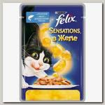 Консервы для кошек Felix Sensations, лосось, треска, кусочки в желе (пауч)