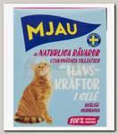 Консервы для кошек, Mjau Мясные кусочки в желе с лангустом