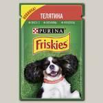 Консервы для взрослых собак Friskies, кусочки с телятиной в подливе