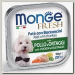 Консервы для собак Monge Dog Fresh курица с овощами