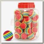 Игрушка для кошек Triol Мячик полосатый, красный, d35мм (банка 50шт.)