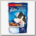 Консервы для кошек Felix Двойной вкус, Beef&Poultry говядина с домашней птицей