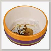 Миска керамическая TRIXIE для кроликов 250мл, разноцветная/кремовая