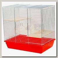 Клетка для грызунов, INTER-ZOO CHINCHILLA 60 ZINC, с 2-мя деревянными полками 59*36*55 см