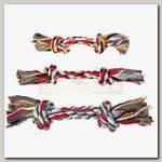Игрушка для собак Trixie, Веревка с 2-мя узлами цветная, хлопок