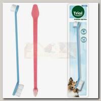 Зубная щетка для собак Triol двусторонняя, 210мм