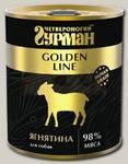 Консервы для собак Четвероногий Гурман Golden line, из чистого мяса ягненка
