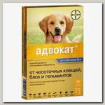Капли на холку для собак от 25 до 40 кг Bayer Адвокат, лечение и профилактика блох, клещей и глистов, 1 пипетка