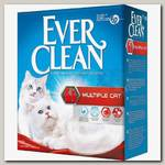 Наполнитель для кошачьего туалета Ever Clean Multiple Cat Комкующийся, для нескольких кошек (красная полоса)